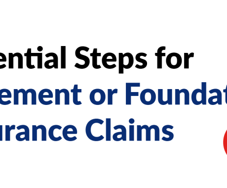 Essential Steps for Basement or Foundation Insurance Claims