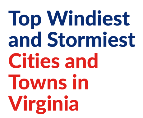 Top Windiest and Stormiest Cities and Towns in Virginia
