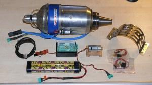 Komponenten einer Turbine