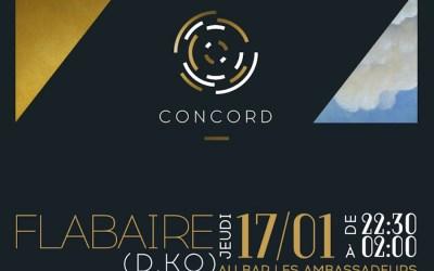 CONCORD#17 : FLABAIRE  (D.KO) à l'Hôtel de Crillon, bar les Ambassadeurs