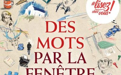 Des mots par la fenêtre, un recueil numérique de 64 textes, au profit de la Fondation Hôpitaux de Paris