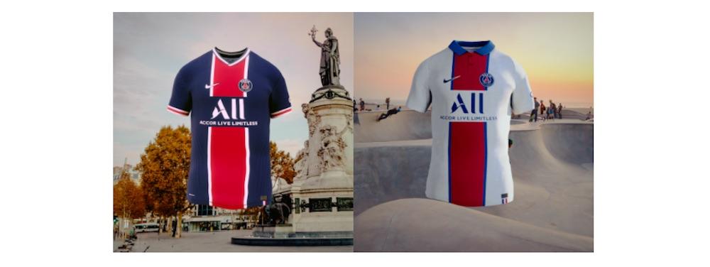 Découvrez les nouveaux maillots 2020/21 du PSG en réalité augmentée !