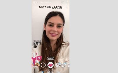 Snapchat x Maybelline New York en Réalité Augmentée
