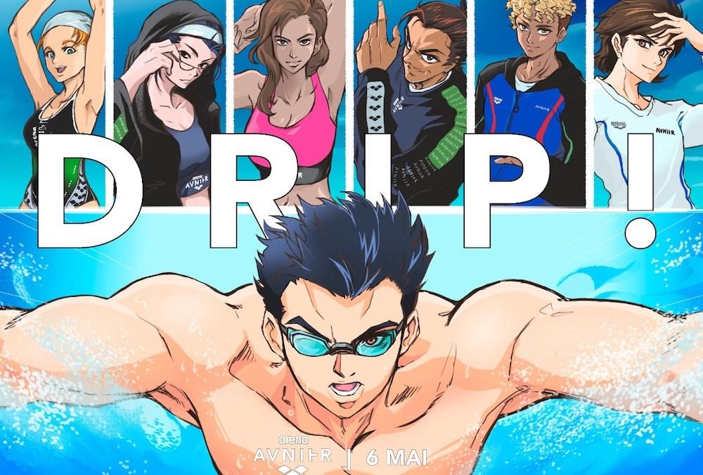 DRIP ! Avnier collabore avec la marque de natation Arena