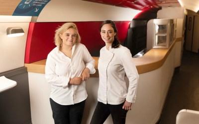 La Cheffe Alexia Duchêne co-signe la nouvelle carte de la SNCF en duo avec la Cheffe Pâtissière Nina Metayer