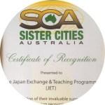 SCA Award to JET Progamme