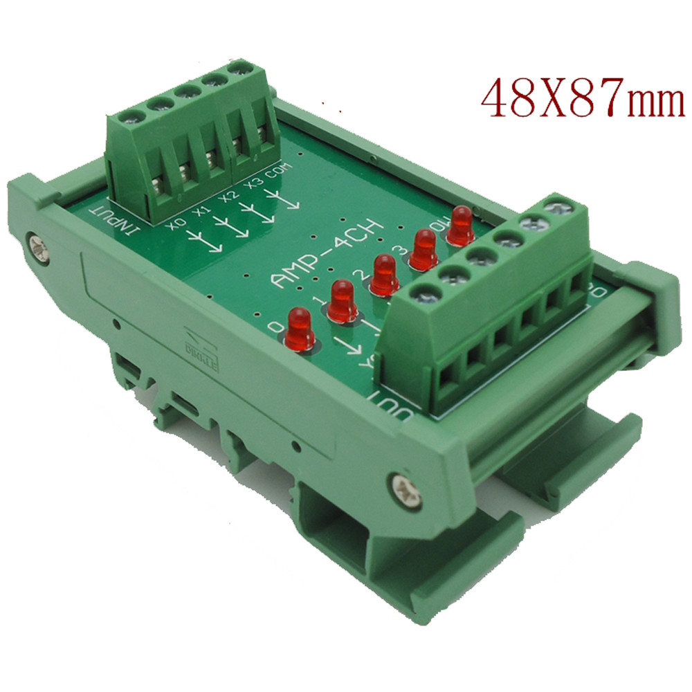 hight resolution of 4 channels dc 24v plc amplifier plate board pnp input npn output opto isolated design