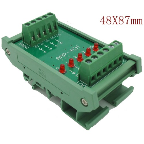 small resolution of 4 channels dc 24v plc amplifier plate board pnp input npn output opto isolated design