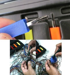 5pcs screwdrivers car wire harness terminals pin remover release tool set kit [ 1000 x 1000 Pixel ]