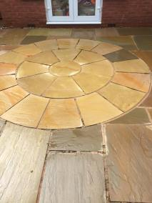 Indian stone patio after 10