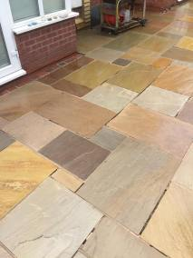 Indian stone patio after 11