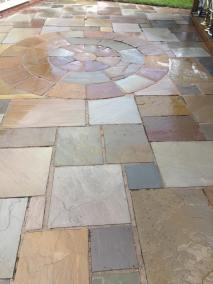 Indian stone patio after 9