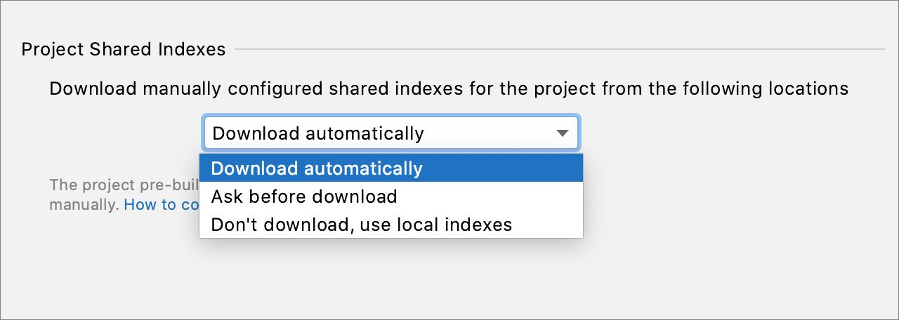 Shared indexes—IntelliJ IDEA
