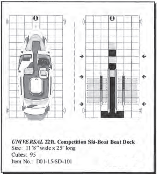 Universal 22' Drive On Competition Ski Floating Boat Dock
