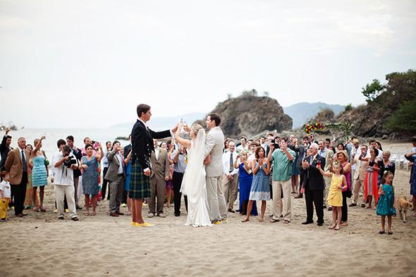 Brightly Colored Beach Wedding in Sayulita Mexico  The Destination Wedding Blog  Jet Fete by