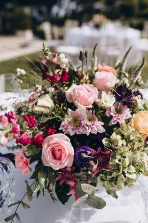 centre de table floral d'été