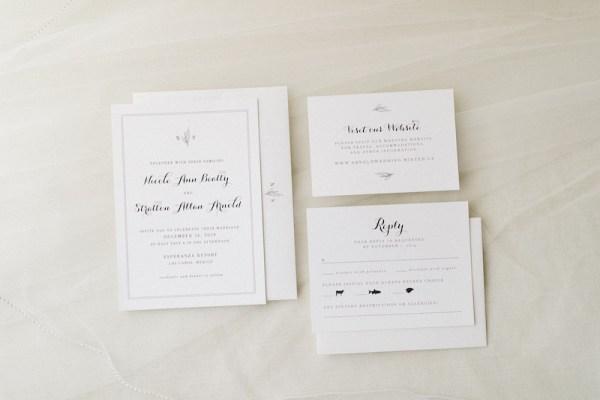 suite d'invitation de mariage simple feuille