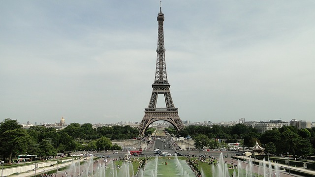 Great views of Eiffel Tower in Paris, France