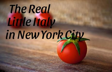 Red Tomatos with The Real Little Italy written on top