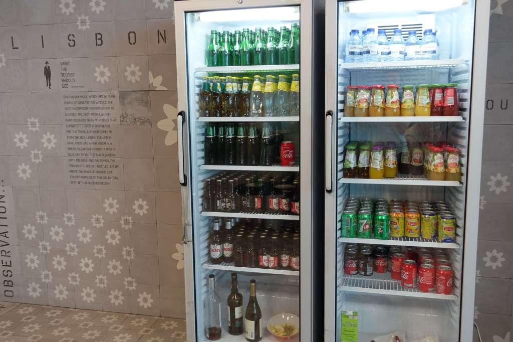 Refrigerator full of beverages