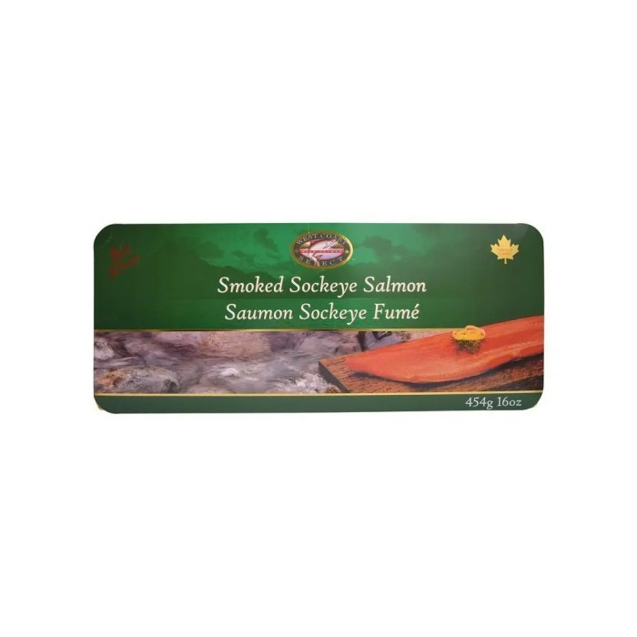Smoked Sockeye Salmon in a Decorative Box 16 oz