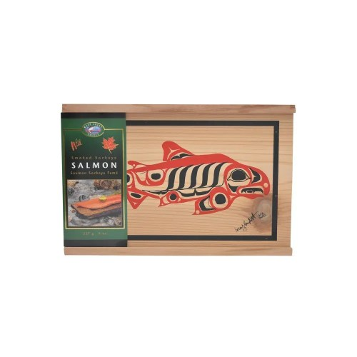 Smoked Sockeye Salmon in a Cedar Gift Box