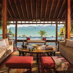 Tropical Living Room In Malaysia Corner Fireplace Arrangement Four Seasons Resort Langkawi Jetsetter Lounge Luxury Modern Chair Property Home Villa Cottage Restaurant Eco Hotel