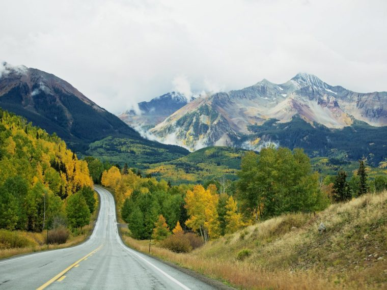 Mountains and foliage in Telluride