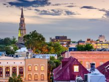 Birds eye view of Charleston