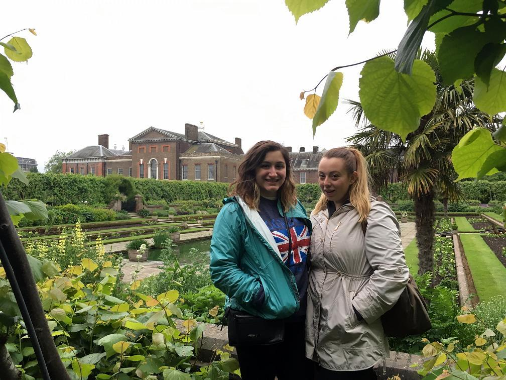 My friend Patricia and I at the gardens at Kensington Palace