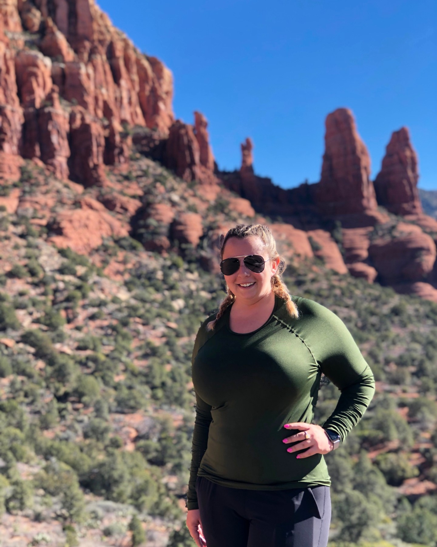Jet-setting Spirit with a view of Sedona
