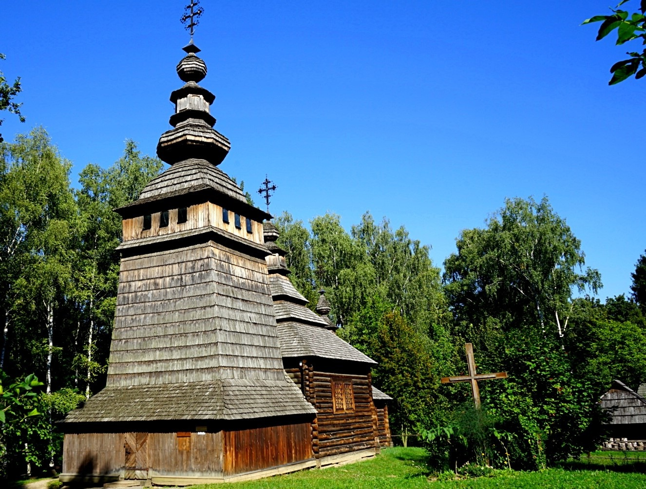 Museum of Folk Architecture in Lviv, old wooden church