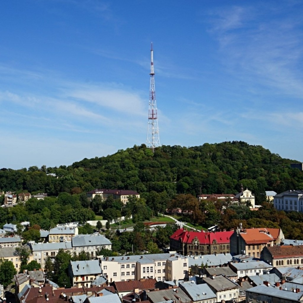 View point in the park High Castle in Lviv