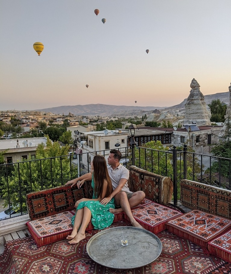 Get Pictures At The Top Roof Terrace of Your Hotel, Goreme, Cappadocia