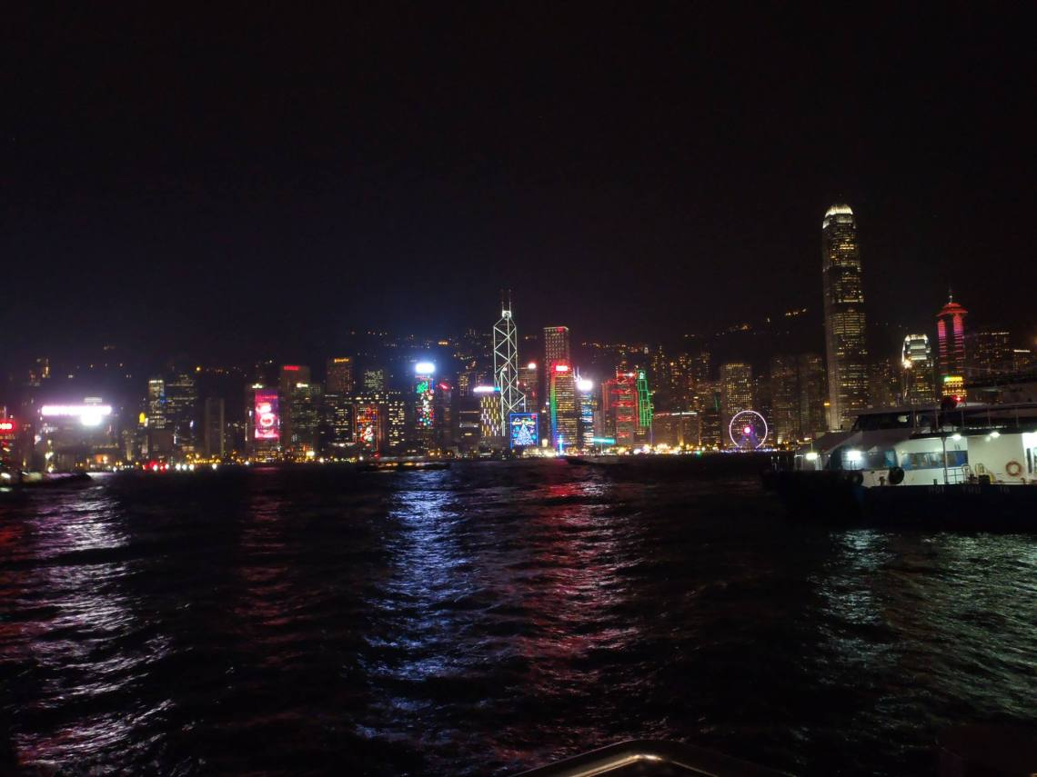 I'm a sucker for cityscapes, and Hong Kong at night is phenomenal
