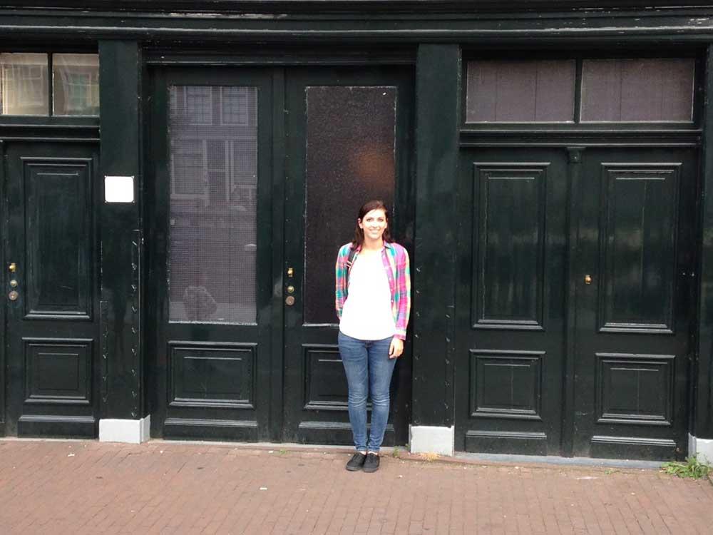 Caitlin at the Anne Frank House