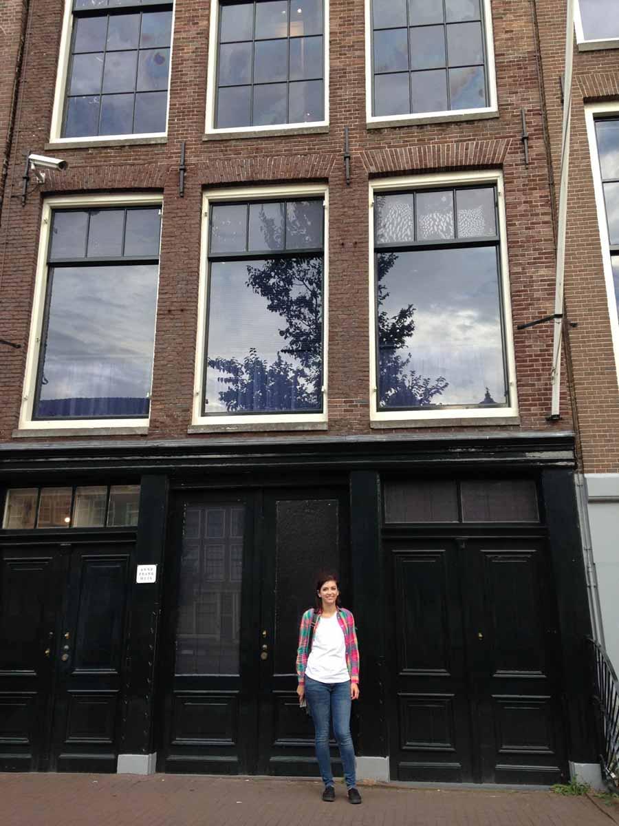 Caitlin at the Anne Frank house again