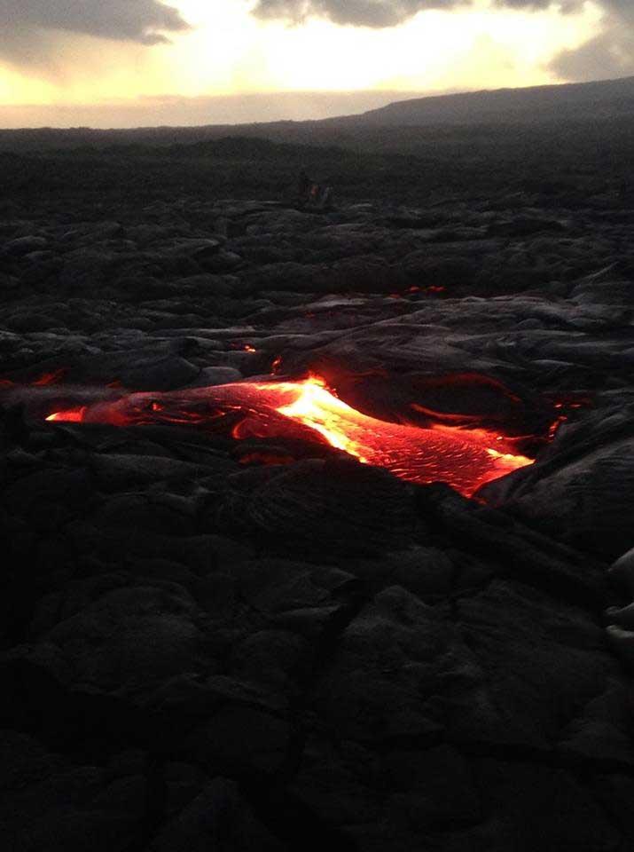 Liquid hot boiling earth