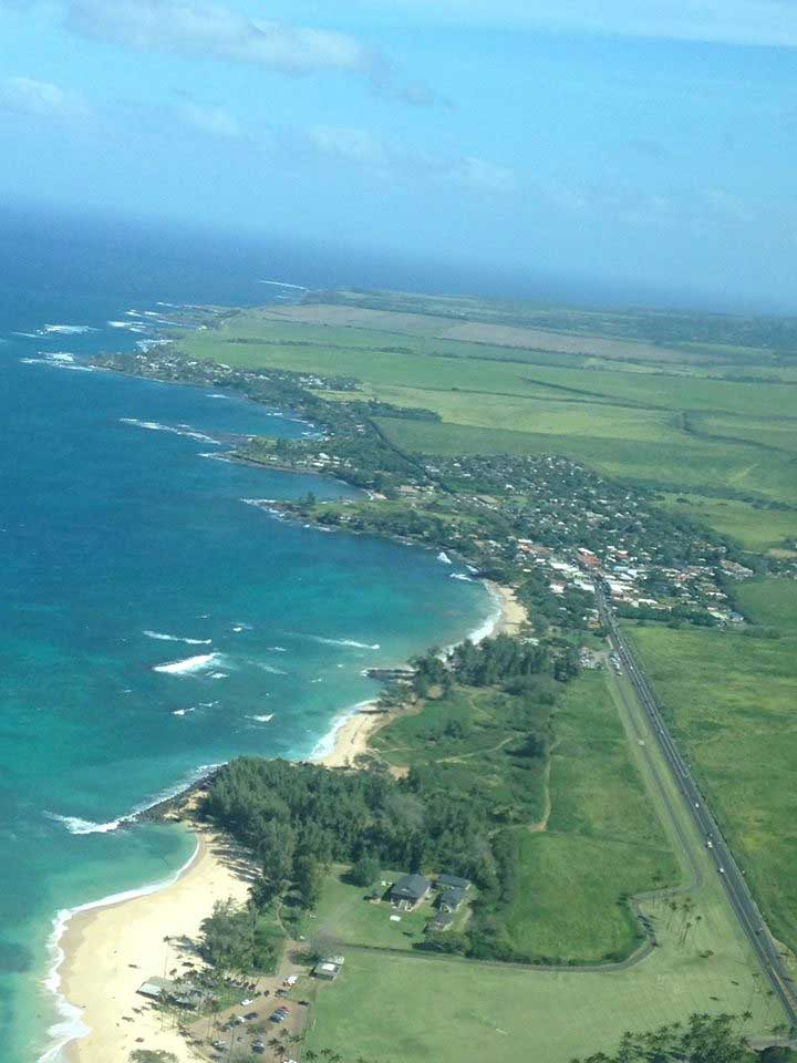 Maui, airplane view