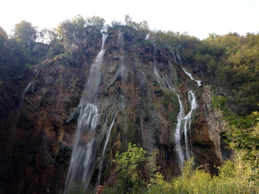 Waterfalls at Plitvice.