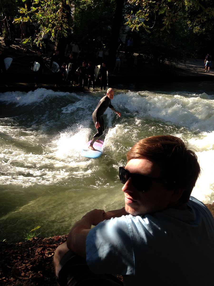 Sidewalk surfin
