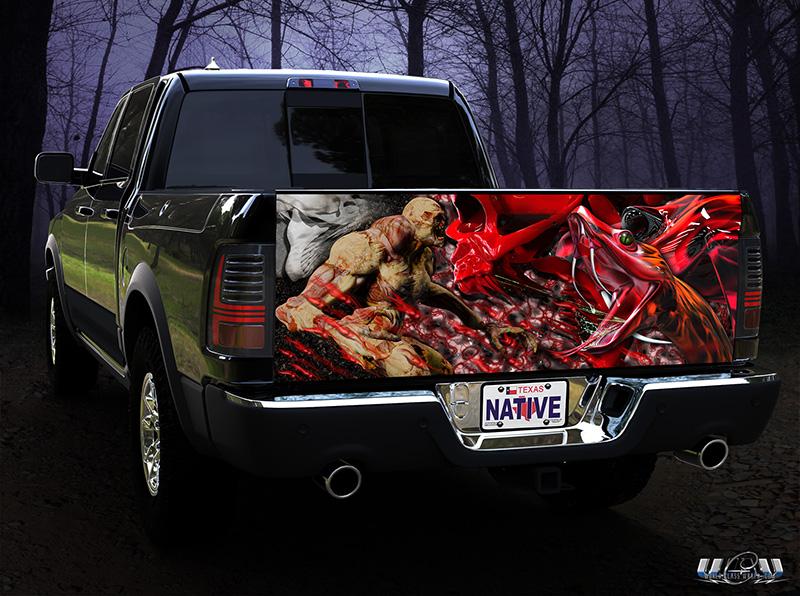 Lifelike 3d Wallpaper Truck Tailgate Graphics Wraps