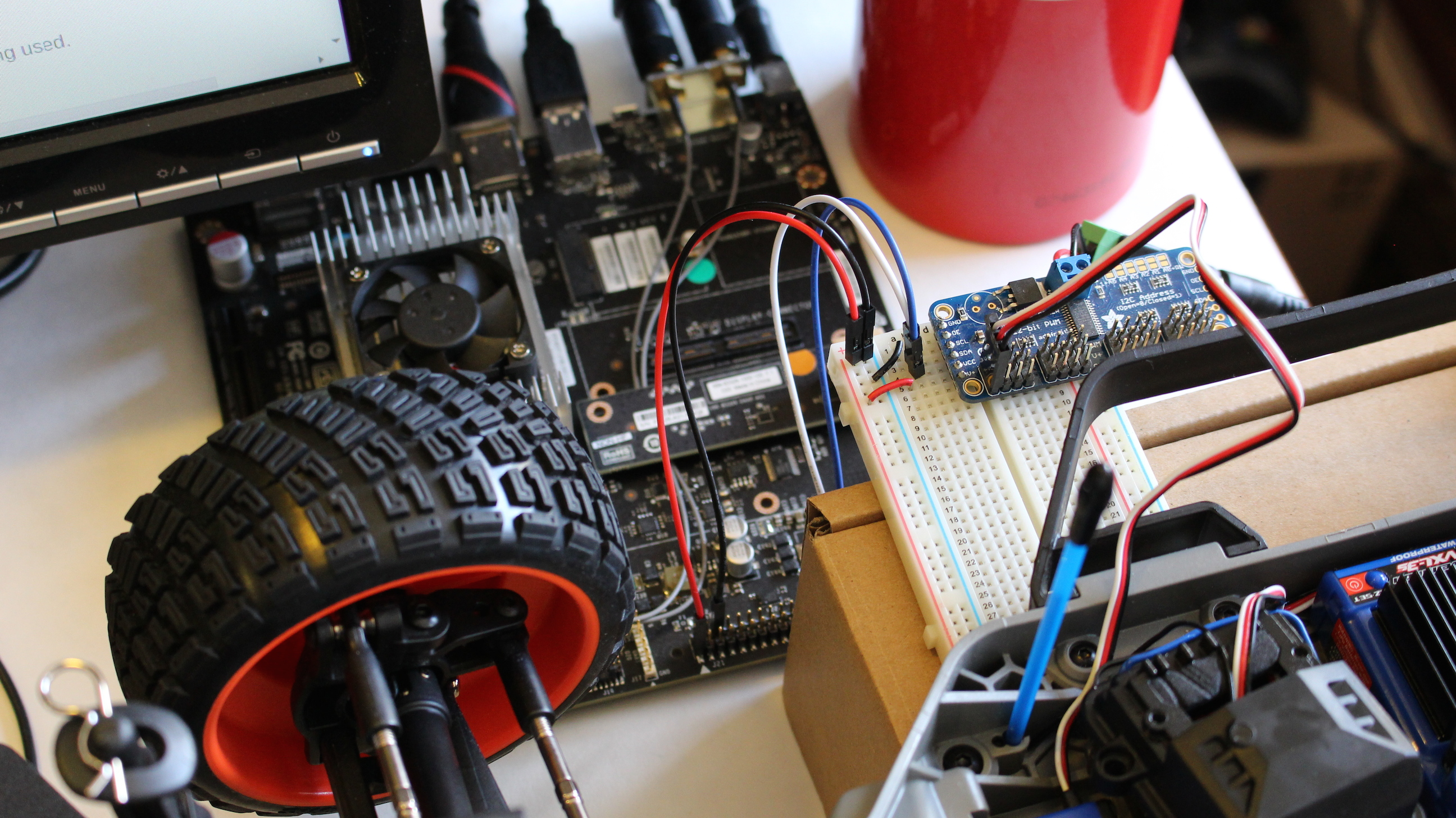 Jetson Racecar Part 2 Steering Control Jetsonhacks Speed Wire Race Car Wiring Traxxas Interface