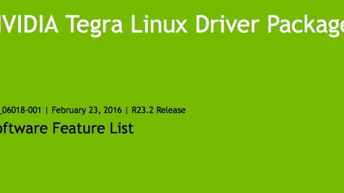 Linux for Tegra 23.2