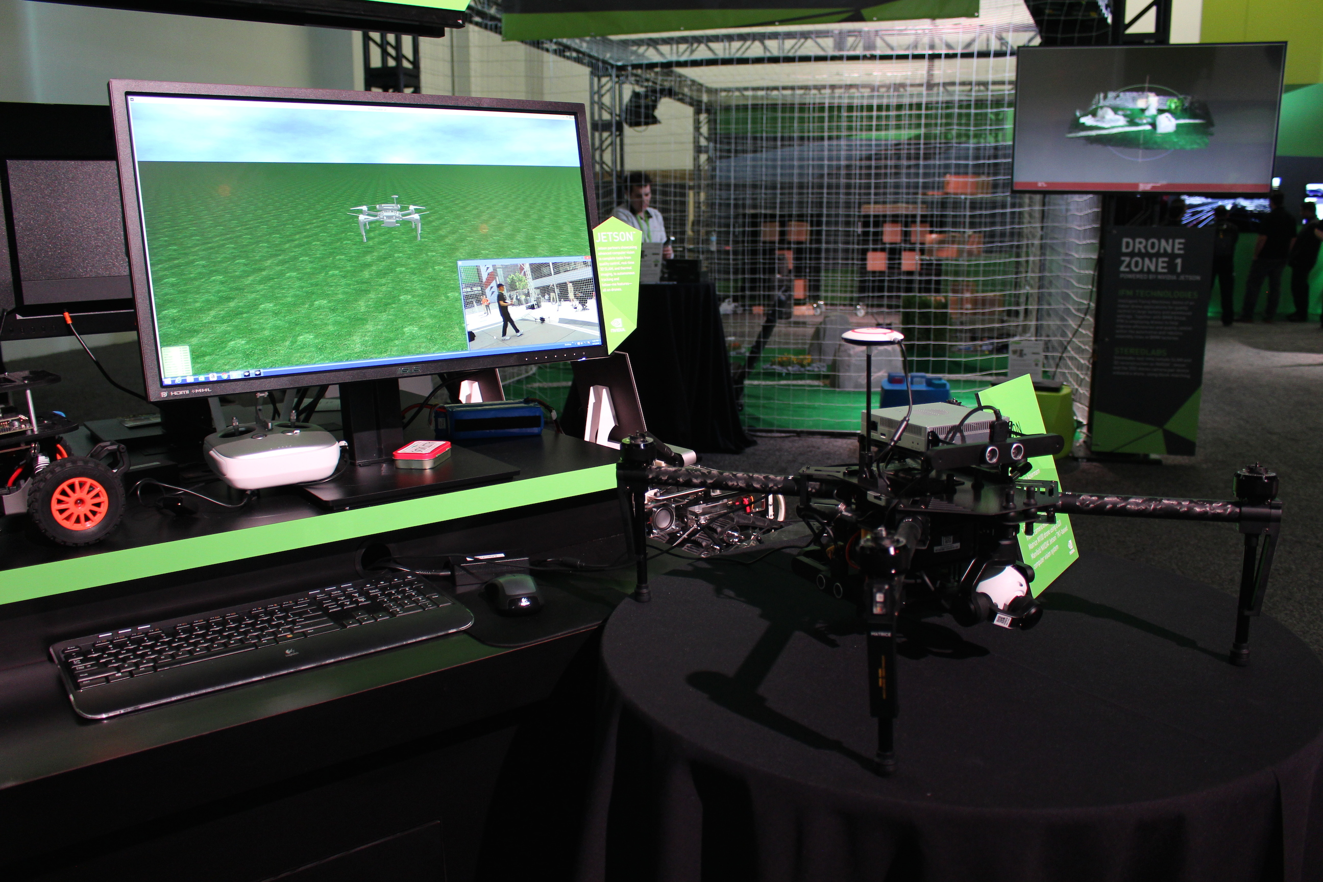 Flying Robot in NVIDIA booth
