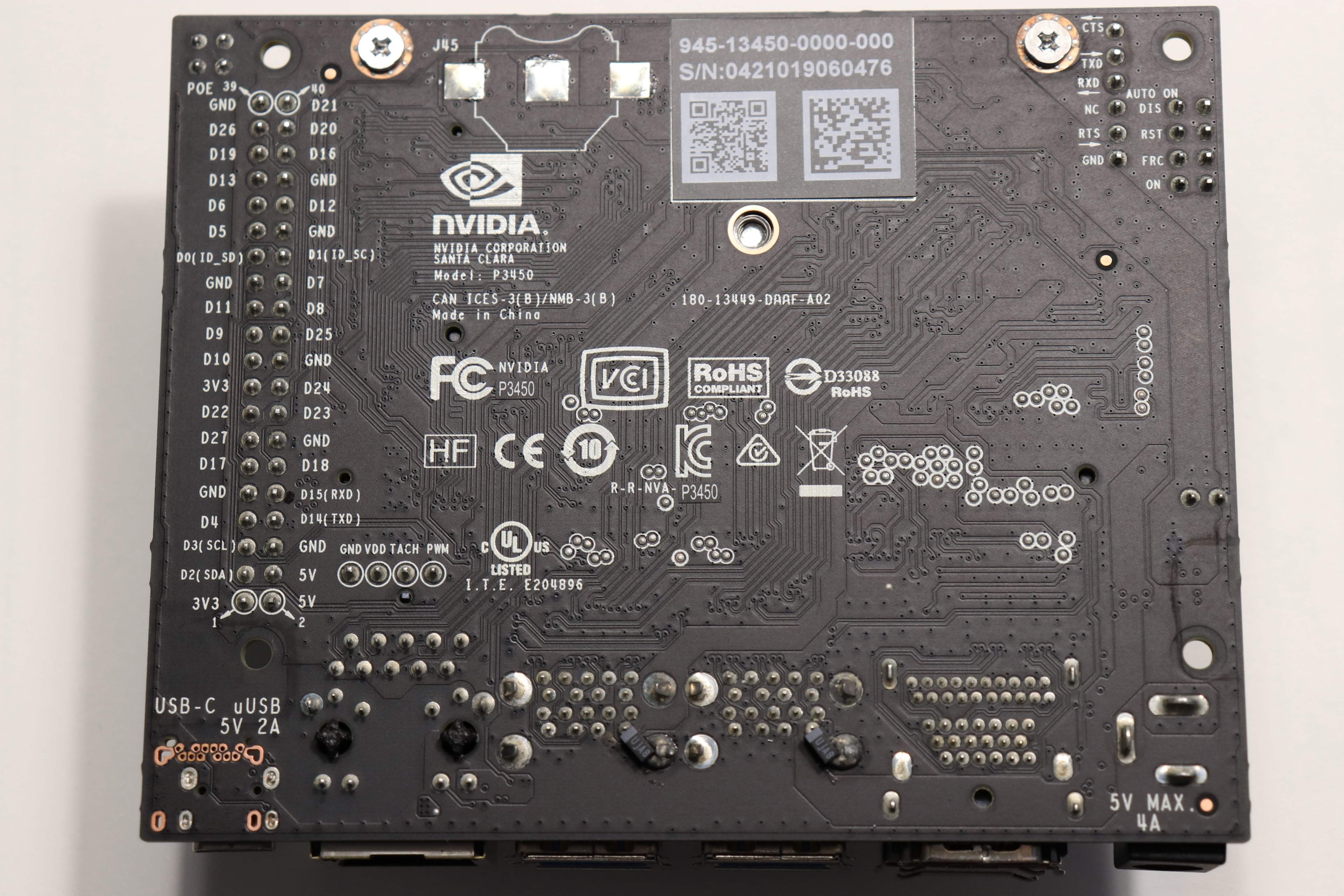Jetson Nano, Carrier Board Underside