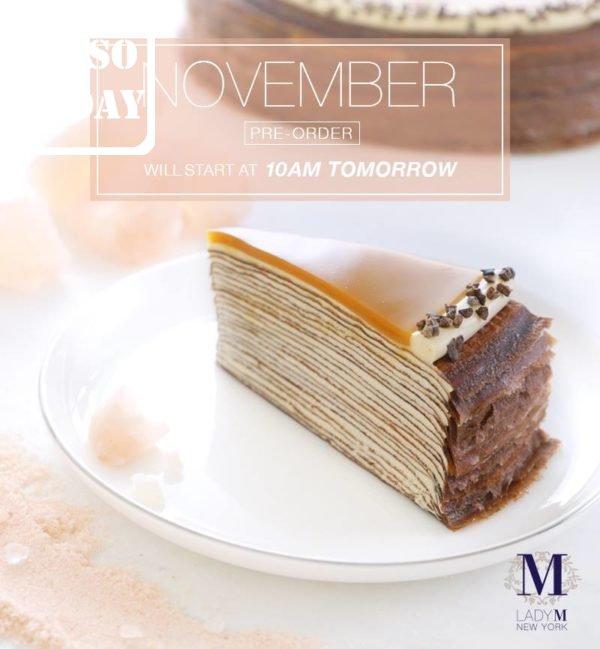 Lady M 「海鹽焦糖千層蛋糕」網上預訂 - 今日著數優惠 Jetso Today