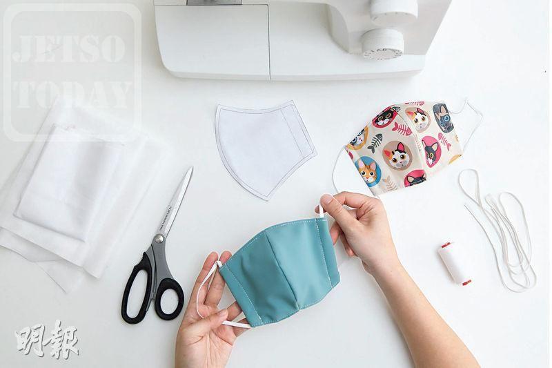 #明報專訊 DIY口罩「解構 3層物料特性 自製口罩 醒目選布增防護力」