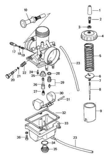 MIKUNI VM24-512 CARB EXPLODED VIEW