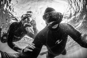 Jett & Kathryn Britnell underwater